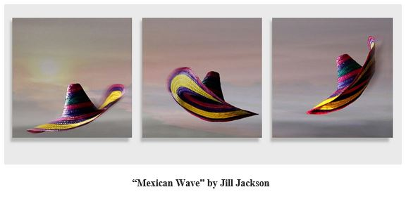 Triptych - Mexican Wave by Jill Jackson